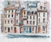 Rue Honoré Chevalier - crayon et aquarelle