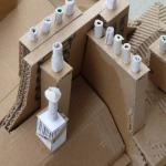 Toits et cheminées parisiens en carton