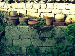 """Le """"gîte"""", printemps-été 2012, pots"""