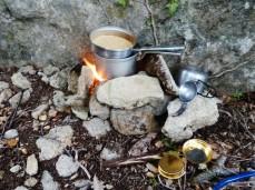 Premier bivouac, couscous aux tomates séchées et au thon
