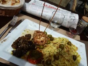 Forcalquier - repas un peu plus riche à L'Aïgo Blanco