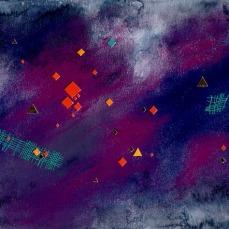 pastels secs et collages