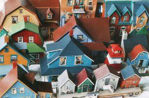 maisons en carton, est du Canada