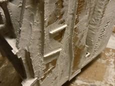 plâtre sur la façade sud