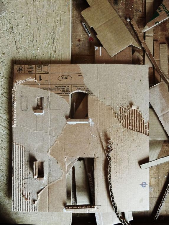 Grande Maison #1 - travail du carton