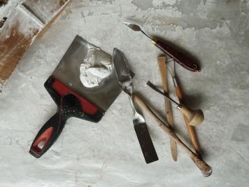 Plâtre - outils