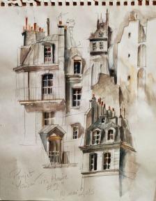 """""""Maison Très Haute # 2"""" - esquisses"""