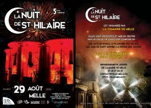 Nuit de Saint-Hilaire 2020 recto © 2020 Ville de Melle