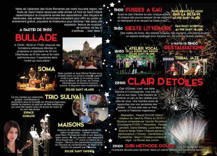Nuit de Saint-Hilaire 2020 verso © 2020 Ville de Melle